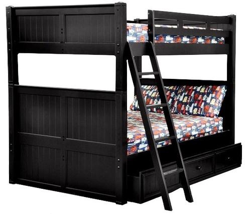 Eberhardt Black Full XL Bunk Beds