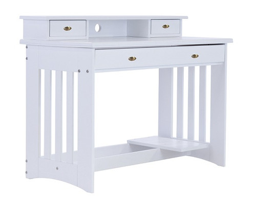 Matslen White Desk with Hutch