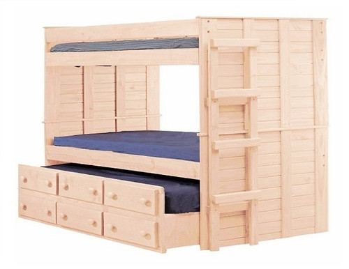 Haverhill Unfinished XL Bunk Bed with Trundle XL twin size