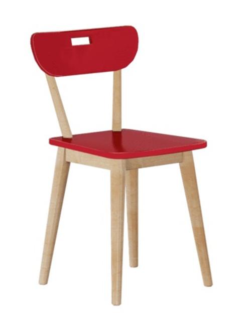 Kimmel Natural Desk Chair red