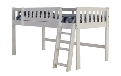 Matslen White Low Loft Bed