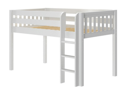 Caleb's White Twin Low Loft Bed