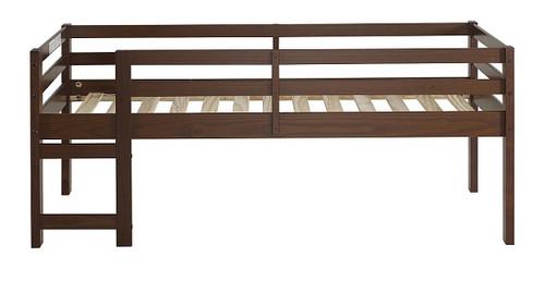 Eldon Walnut Twin Size Low Toddler Loft Bed front view