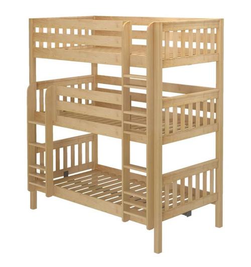 Leta Natural Twin XL Triple Bunk Bed