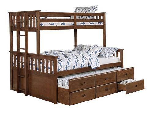 Dennison Queen Twin Bunk Bed