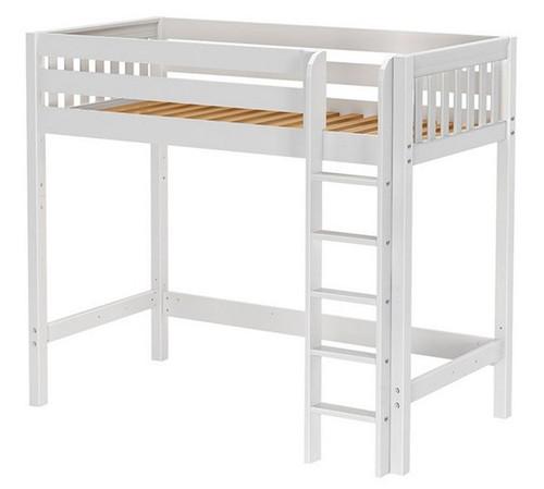 Dawson White High Twin Loft Bed