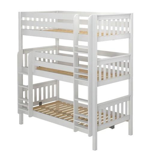 Leta White Twin XL Triple Bunk Bed