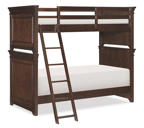 Finn Brown Cherry Bunk Beds twin over twin size