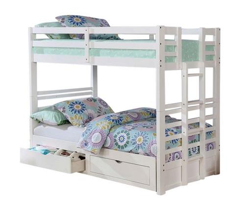 Solana White Convertible Bunk Beds
