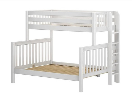 Crystal White XL Twin over Queen Bunk Bed
