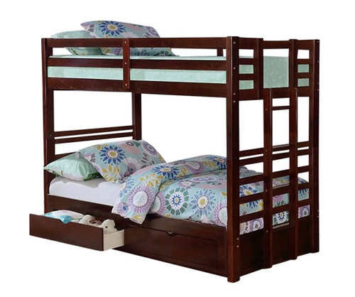Landry Dark Walnut Convertible Bunk Beds