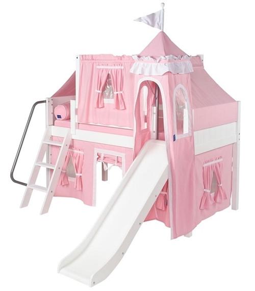 Sleeping Beauty White Low Girls Princess Loft Bed