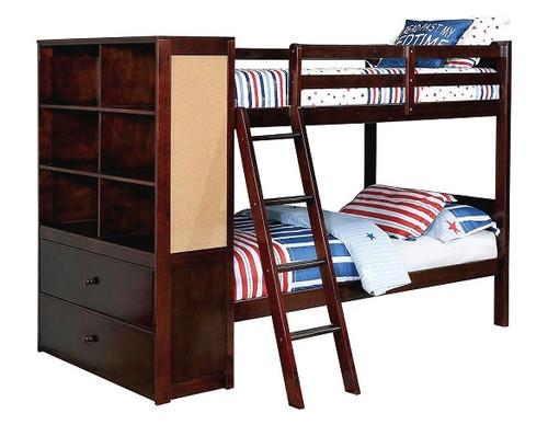 Roxbury Walnut Bunk Beds with Storage