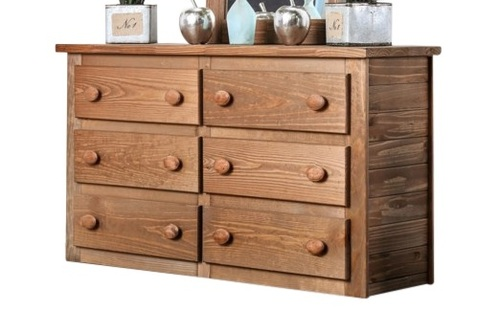 Woodlands Brown Cherry Large Dresser
