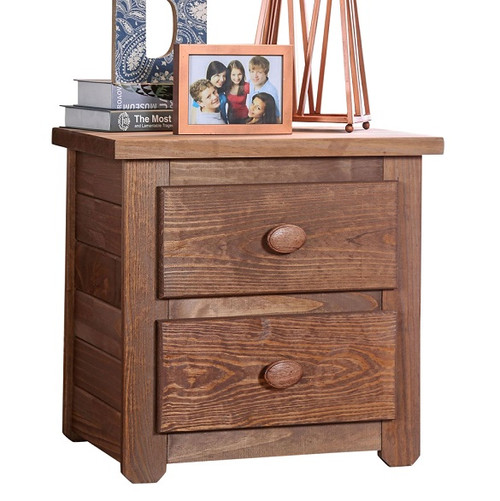 Woodlands Brown Cherry Nightstand with Drawers