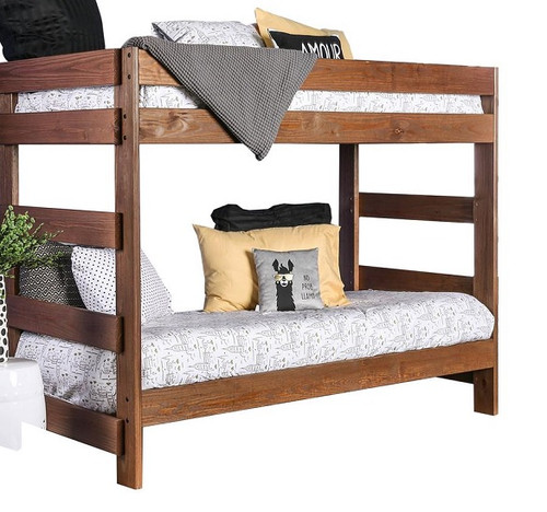 Woodlands Brown Cherry Bunk Beds twin size