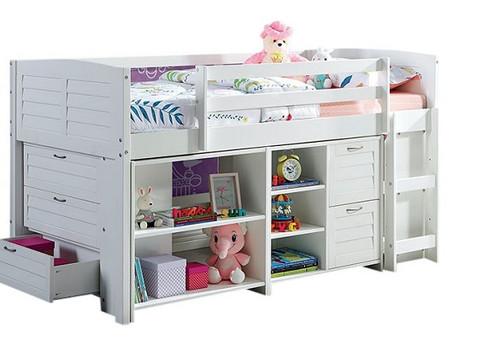 Cassie Low Loft Bed with Storage