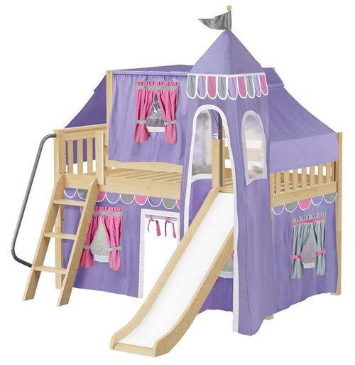 Purple Princess Natural Girls Loft Bed