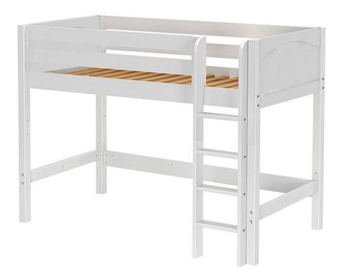 McQwinn White Twin Junior Loft Bed