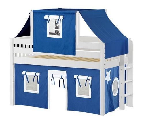 Caleb's White Twin Boys Playhouse Loft Bed