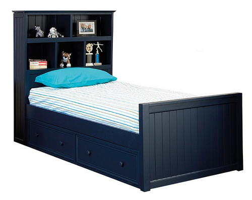 Annapolis Blue Twin Bookcase Bed