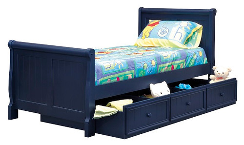 Annapolis Blue Twin Sleigh Bed