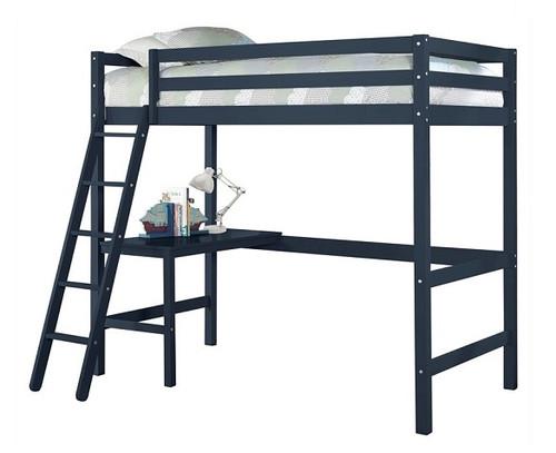 Harper Valley Kids Twin Loft Bed Blue Finish