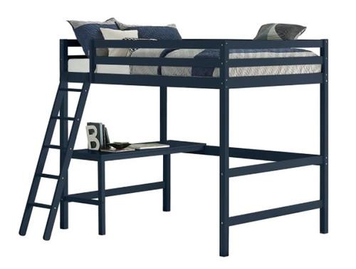 Harper Valley Kids Full Loft Bed Blue Finish