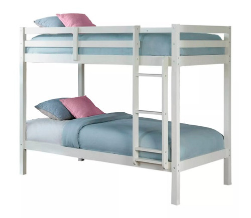 Harper Valley Low Bunk Beds for Kids White Finish
