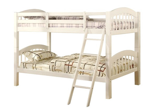 Raelin White Low Bunk Beds