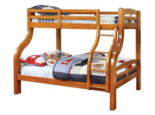 Dunbar Oak Twin over Full Bunk Bed