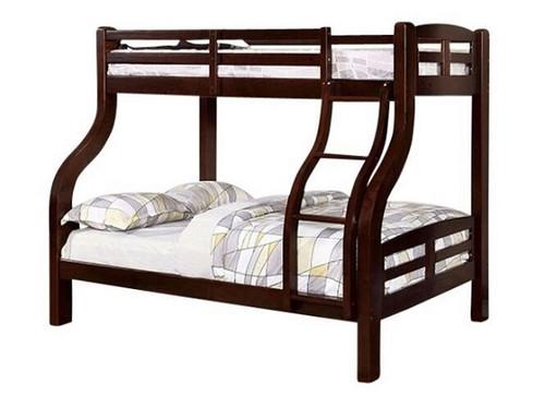 Dunbar Dark Walnut Twin over Full Bunk Bed
