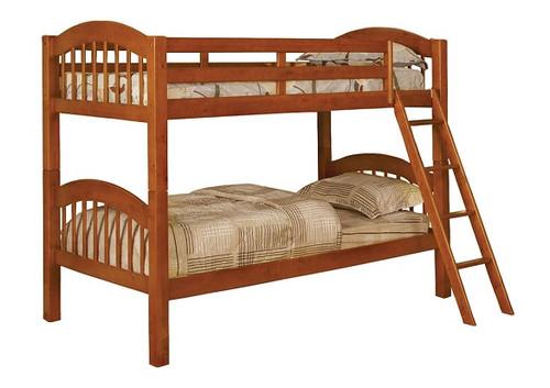 Decon Oak Low Bunk Beds