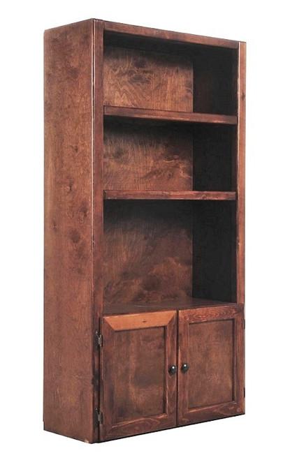 Gracie Cocoa Bookshelf with Doors