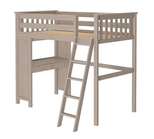 Kivik Sand Twin Loft Bed with Desk