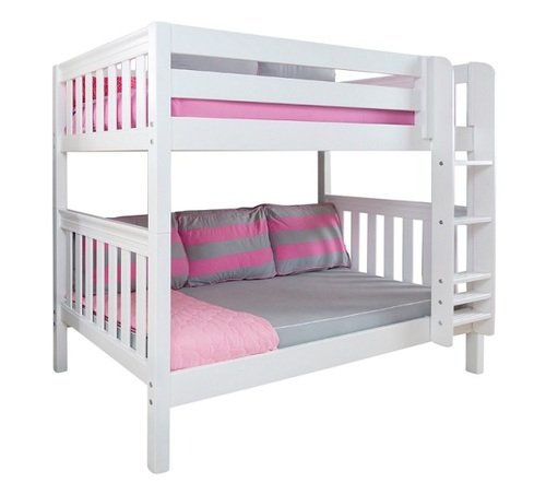 Penn Low White Queen Bunk Bed