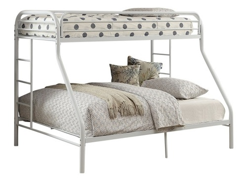 Hudson White Twin over Queen Bunk Bed