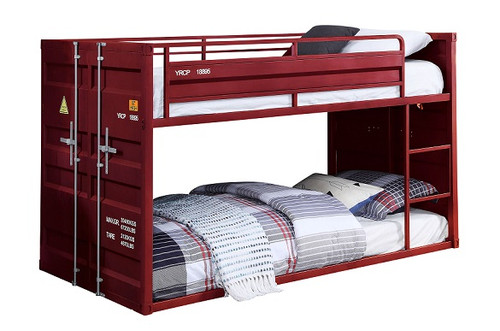 Shipping Container Red Low Bunk Beds