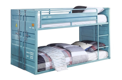 Shipping Container Aqua Low Bunk Beds
