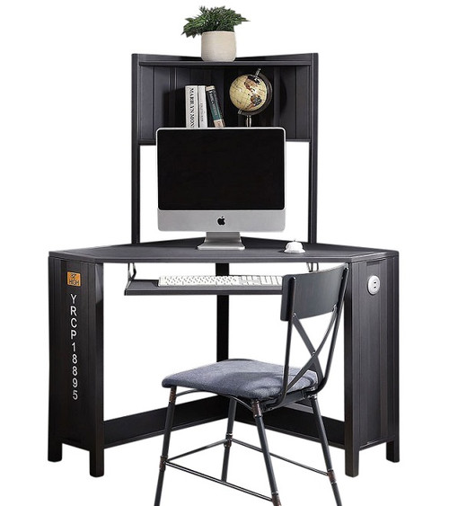 Shipping Container Gray Metal Corner Desk