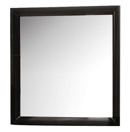 Manville Black Rectangle Mirror