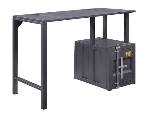 Shipping Container Gray Metal Writing Desk