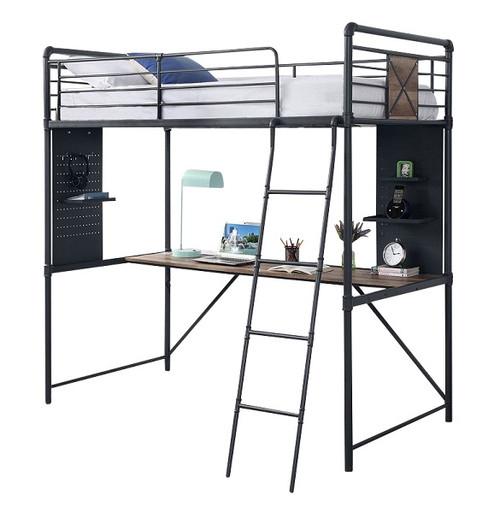 Big Sur Twin Loft Bed with Desk