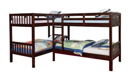 Maddox Walnut Quadruple Bunk Bed