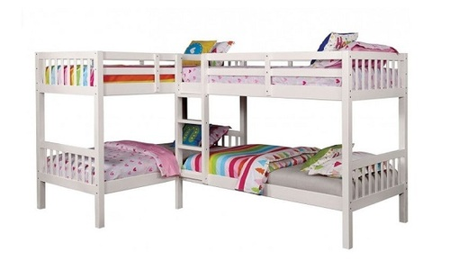 Maddox White Quadruple Bunk Bed