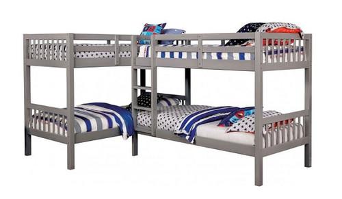 Maddox Gray Quadruple Bunk Bed