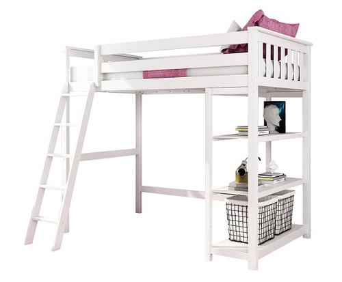 Wilde White Twin Loft Bed