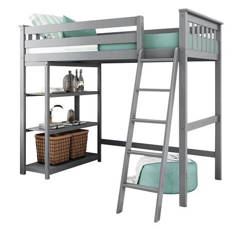 Grandview Gray Twin Loft Bed