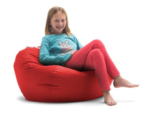Big Joe Classic Bean Bags for Kids with Kid Red