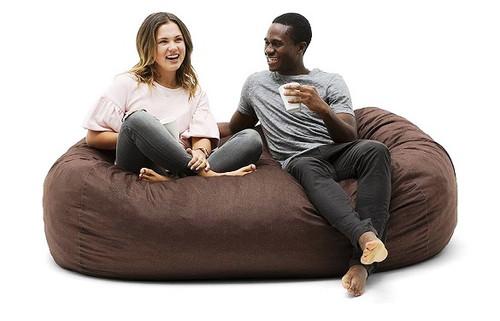 Big Joe Media Lounger Bean Bag with 2 Adults Cocoa